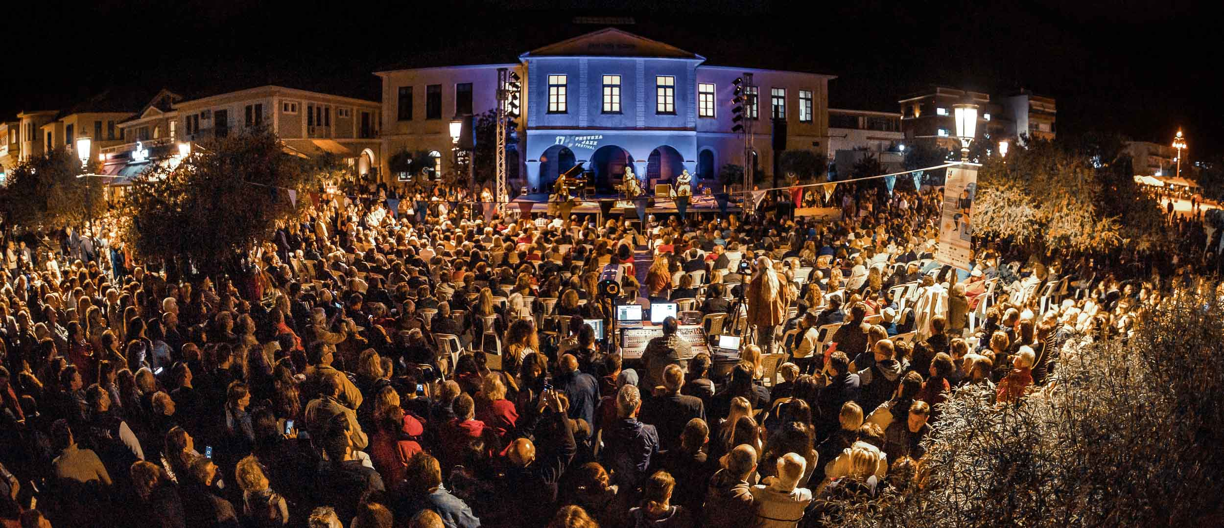 Crowd attending a live event in preveza